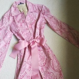 Adorable pink print jacket. NWOT.